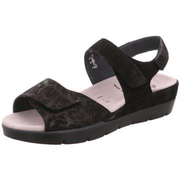 Semler Komfort Sandale schwarz