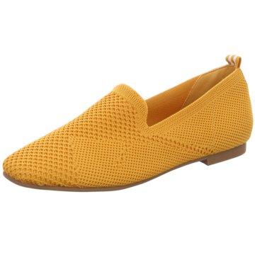 La Strada Klassischer Slipper gelb
