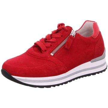 Gabor Plateau SchnürschuheSneaker rot