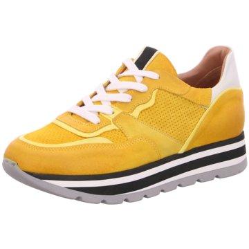 030 berlin Plateau Sneaker gelb