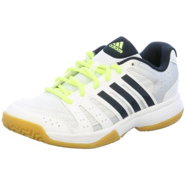 Adidas Hallenschuhe Kinder Größe 32 weißschwarz