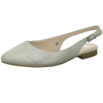 Caprice Sling Ballerina silber