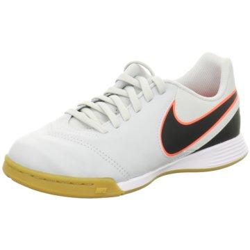 Nike Trainings- und HallenschuhTiempo Legend VI IC Kinder Fußball Hallenschuhe Indoor blau/grün weiß