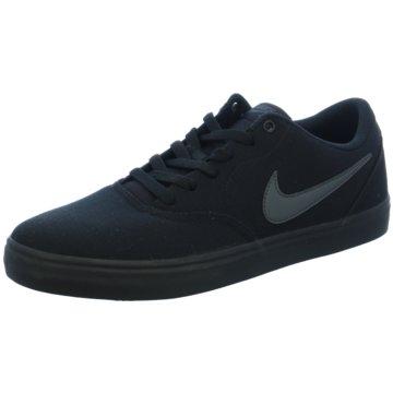 Nike Sneaker LowMen's Nike SB Check Solarsoft Canvas Skateboarding Shoe - 843896-002 schwarz