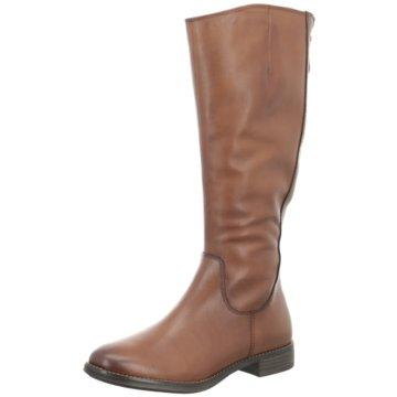 Tamaris Schuhe Damen Stiefel hohe Schaft-Stiefel in Wildleder-Optik Oliv Grün