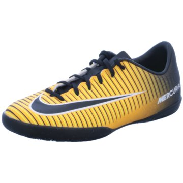 Nike Trainings- und HallenschuhMercurial X Victory VI IC Kinder Fußball Hallenschuhe orange schwarz gelb