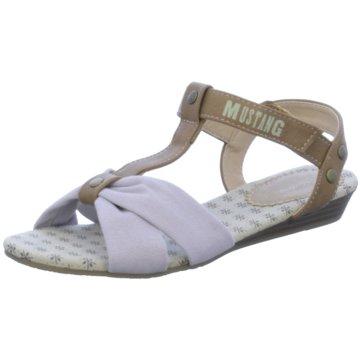 Mustang Sandale beige