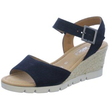 Gabor Espadrilles Sandalen blau