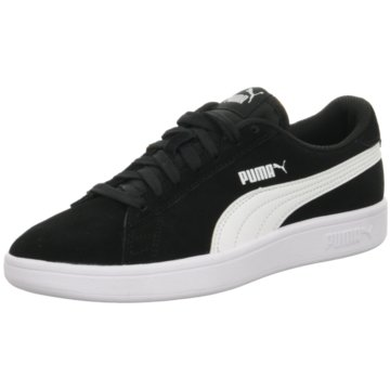 Puma Sneaker Low SMASH V2 SD JR - 365176 schwarz