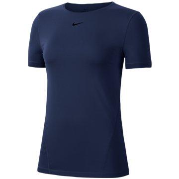 Nike T-ShirtsNike Pro Women's Short-Sleeve Mesh Training Top - AO9951-482 -