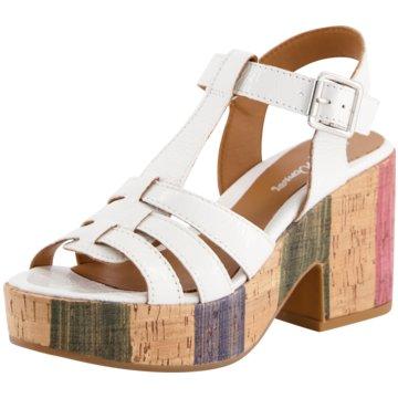 Alpe Woman Shoes Keilsandalette weiß