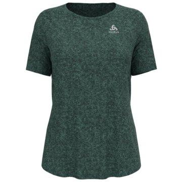 ODLO T-ShirtsT-SHIRT S/S CREW NECK RUN EASY - 313441 grün