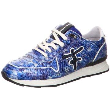 d0226a8994c039 Floris van Bommel Sneaker LowFloris Sport Blue Snake Patent blau