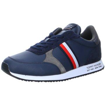 Tommy Hilfiger Sneaker LowRunner Lo Leather Stripes blau