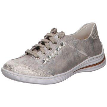 Rieker Komfort Schnürschuh grau