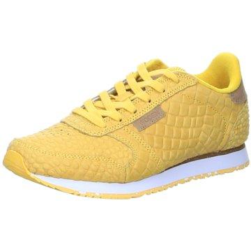 Woden Sneaker LowYdun Croco gelb