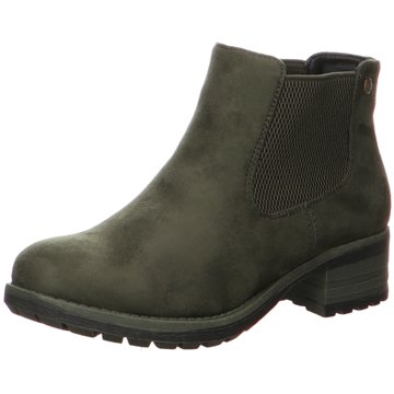 Schöne RIEKER Leder Stiefeletten oliv 42 Schnürstiefel Boots