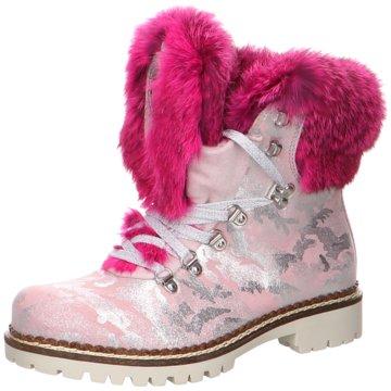 New Italia Shoes Schnürboot rosa