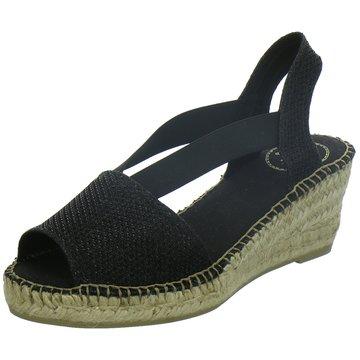 Toni Pons Espadrilles Sandalen schwarz