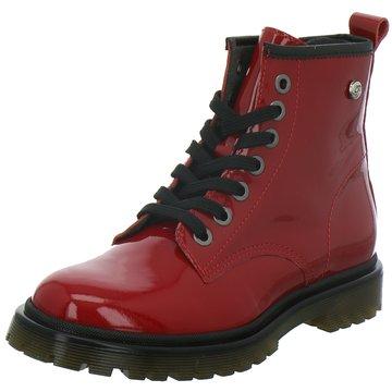 hip shoe style Schnürstiefel rot