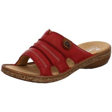 Rieker Komfort PantolettePantolette rot