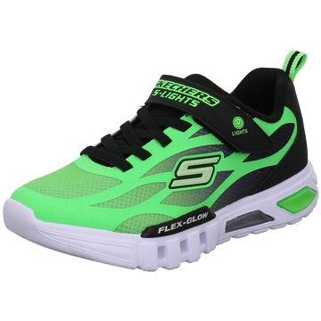 Skechers Sneaker LowFlex Glow Dezlom grün