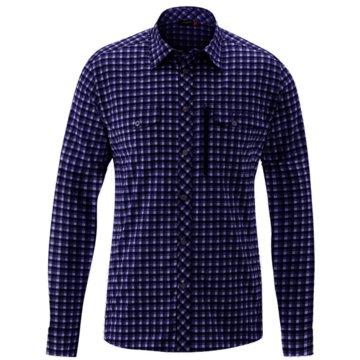 Maier Sports Langarmhemden blau