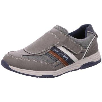 BM Footwear Sportlicher Slipper grau