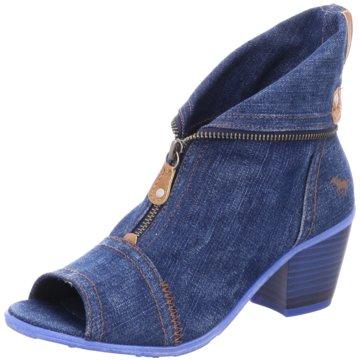 Mustang Klassische Stiefelette blau