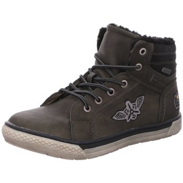 BM Footwear Komfort Schnürschuh oliv