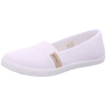 Shoeplanet Klassischer Slipper weiß