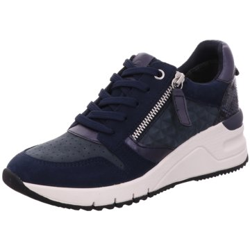 Tamaris Plateau SneakerDa.-Schnürer blau