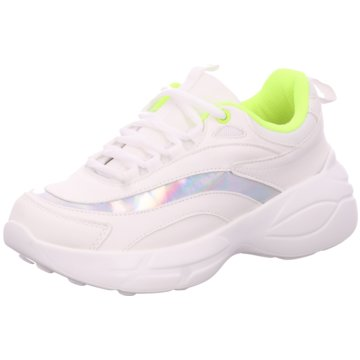 D.T. New York Plateau Sneaker weiß