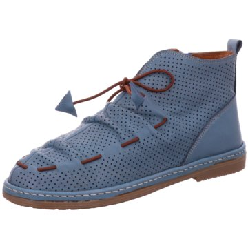 ROE&DOE Komfort Schnürschuh blau