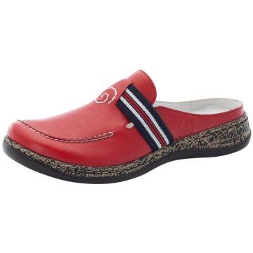 Rieker Komfort Pantolette rot