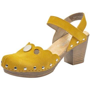 Rieker Clog gelb