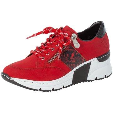 Rieker Komfort SchnürschuhSneaker rot