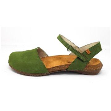 El Naturalista Komfort Sandale grün