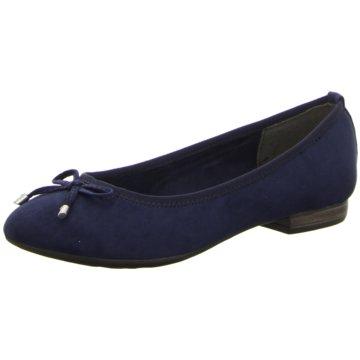 Marco Tozzi Klassischer BallerinaSardinia blau