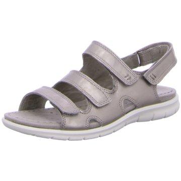 Ecco Komfort Sandale silber