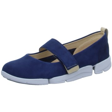 Clarks Komfort Slipper blau