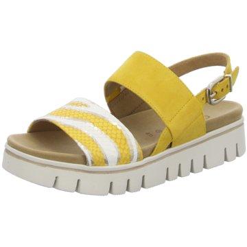 Gabor comfort Plateau Sandalette gelb