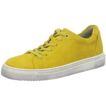 Sioux Komfort Schnürschuh gelb