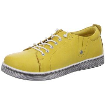 Andrea Conti Komfort Schnürschuh gelb