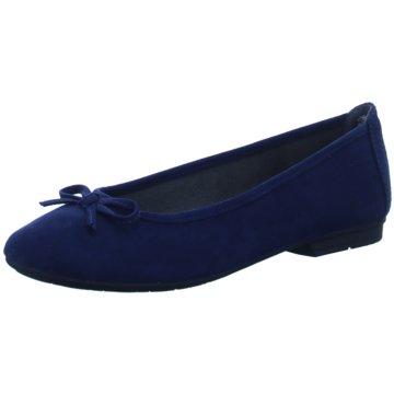 Jana Eleganter Ballerina blau