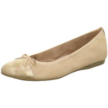 Tamaris Klassischer Ballerina beige