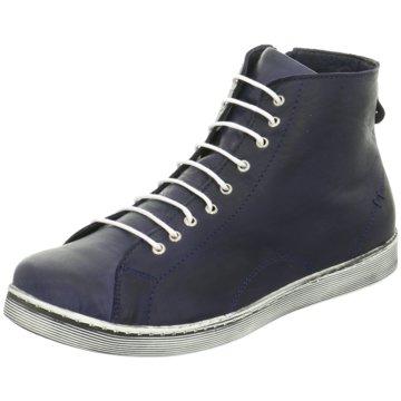 Andrea Conti Sneaker High blau