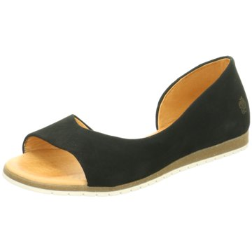 Apple of Eden Peeptoe Ballerina schwarz