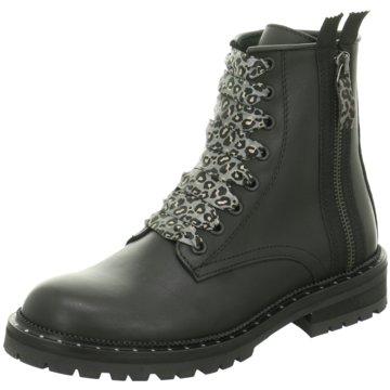 hip shoe style Schnürstiefelette schwarz