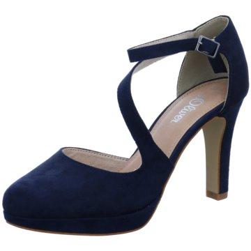s.Oliver Plateau Pumps blau